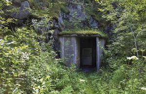 En av ingångarna till Bergrummet i västra berget.