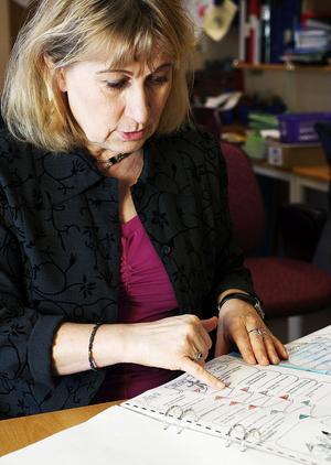 Vivi-Anne Widmark är lärare i årskurs 3 på Essviks skola i Njurunda. Hon är skeptisk till att bedöma lågstadieelever efter strikta ämnesindelningar och kunskapsmål som är separerade från barnens sociala utveckling.