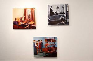 Den modernistiska folkhemsepoken går som en röd tråd genom Petter Dahlström Perssons konst på Ahlbergshallen.