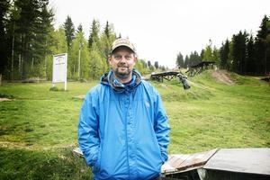 Kenneth Einars, ordförande Alfta bike park. Bild: Sofia Lindh