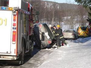 En av olyckorna med hemtjänstpersonal inblandad inträffade på annandag påsk på raksträckan norr om Gålåbacken.