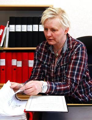 Ann-Charlotte Evrung jobbar på Kommunal, men är även ordförande i Liden/Holms S-förening