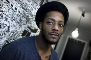 Rapparen Adam Tensta, aktuell med sitt tredje album