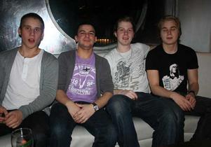 Silk. Gustav, Shabbe, Fredrik och Jocke