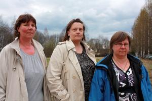Besvikna. De tre representanterna från facket, Susanne Wesström, Monica Andersson och Nettan Lindbom Byggnings är besvikna på alla besparingar inom hemtjänsten. De hoppas på att politikerna tar ett omtag och fördelar pengar till hemtjänsten.