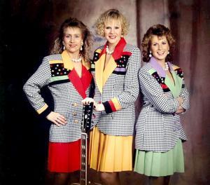 Från förr. Så här såg Tre Tjejer ut när de var som mest i farten för omkring 20 år sedan. Från vänster Kikki Ekblom, Inger Stähring och Agneta Nylander.    Bild: PRIVAT