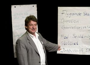 Anders Gäfvert presenterade bland annat sin idé om en storsatsning på James Bond på Hemsön.