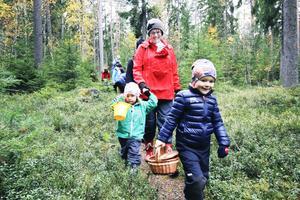 Barnen i Knytte-gruppen är runt tre till fyra år, och under hösten har de bland annat gått på svamp- och bärpromenad, samlat lördagsgodis till ekorren och gått på skattjakt.