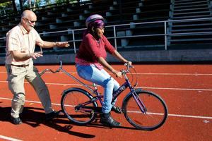 Fartun Mohamed Aden med rötter i Somalia, var även med på förra omgångens cykelkurs frö två år sedan.