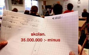 Skolpolitiker och skolledning får i år räkna minus mer än plus, om kommunens ekonomi ska gå ihop. En tredjedel av besparingarna ligger på skolan.Foto: Johnny Fredborg