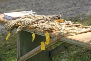 Handgjorda rep till försäljning under Volasdan i Edsbyn.