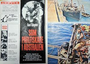 Tidningen lektyr uppmärksammade under 1960-talet Kent äventyr i stora reportage flera nummer i följd.
