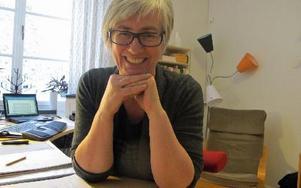 Ann-Marie Svensson beskriver JAK Medlemsbank som en rättvis och demokratiskt styrd bank utan räntor. FOTO: ROLAND ENGVALL