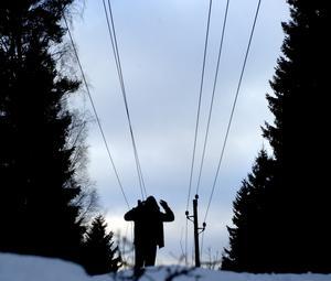 Dyrt och kallt. Vintern har varit hård för elkonsumenterna.foto: scanpix