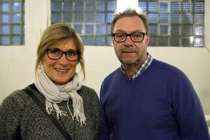Besökarna Åsa och Michael Wittek.