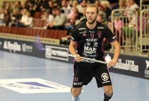 Johannes Larsson gjorde matchens första mål, det blev ändå förlust mot Mullsjö för IBF Falun.