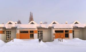 Hamre gård i vinterskrud.