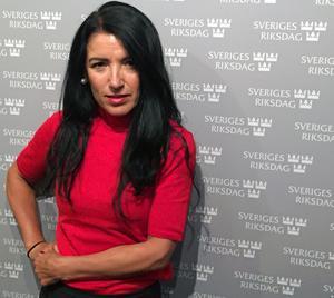 Amineh Kakabaveh uppmärksammar det hederskulturella och religiösa förtryck som  många invandrarkvinnor i dag upplever i svenska förorter.