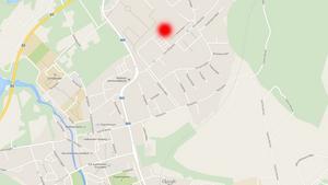 Här vill kommunstyrelsen att den nya förskoleavdelningen byggs (se röda markeringen).