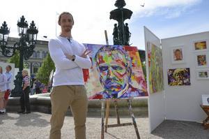 Ett tiotal konstnärer valde att ställa ut sin konst. En av dem var Patrik