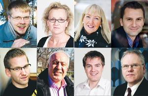 Kan bli kommunstyrelseordförande: Pontus Åström, Boel Godner, Anna Bohman, Robert Rohammar, Alexander Lindholm, Besim Aho, Elof Hansjons eller Peter Friström.