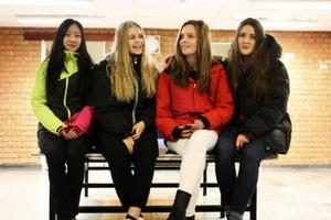 Sanna Andretzky, Vilda Sandal, Sofia Persson och Linnéa Carpenter har alla bestämt sig inför gymnasievalet på måndag.