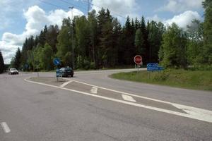 NY MACK. Här vid den södra infarten till Örbyhus från länsväg 292 ska den nya lokala macken ligga.