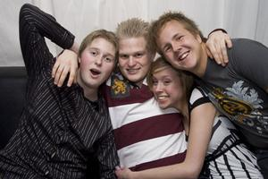 Pluto Anders, Fredrik, Jossan och Johan.