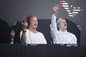 Svenska DJ-duon Vigiland på Bråvallafestivalen.  Arkivbild.