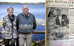 Vivi-Anne och Benny Lennartsson - vid stora i Öjetorp och på NA:s förstasidan 8 juni 1965.