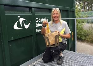 Eva Johansson är miljöpedagog vid Gästrike återvinnare.