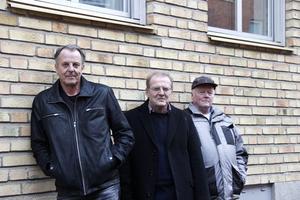 Sören Ahlström, Sten Georg Alsne och Leif Andersson firar 50 år med sitt band Halifax Team, och de har inga planer på att lägga av.