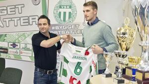 VSK:s klubbchef Michael Campese tillsammans med Simon Jansson  år 2016. Fotograf: Daniel Guerra
