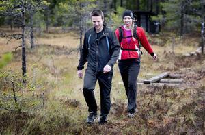 Mikael Eriksson, 33, Saxdalen, gick Gruvtrampen för första gången medan det var debut för 31-åriga Annika Lundström från Kopparberg.