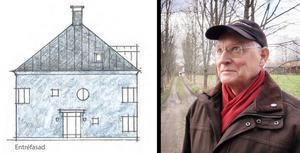 Pyramidhuset med fem lägenheter blir områdets knorr, säger arkitekt Kjell Forshed.