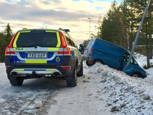 Trafikolycka på basvägen i Torvalla.