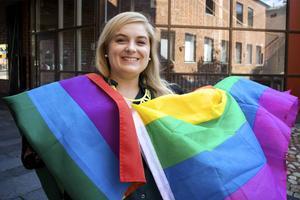– För mig står Pride för stolthet och rätten att få vara sig själv, säger Linnea Risinger, en av arrangärerna. Arkivbild: Claes Söderberg.
