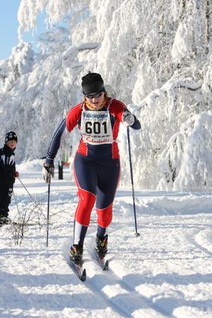 Lina Hultin från Garphyttans IF slutade trea.