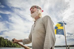 Lasse Feldtblad är ordförande i Arbrå Kyrkroddbåtförening
