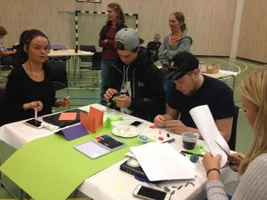 Elever från Torsta vann med sin affärsplan. Bild från Pressmeddelandet.