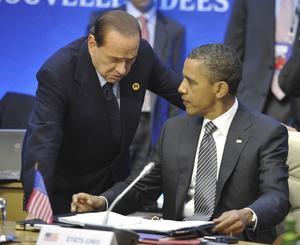 I stormens öga. USA:s president Barack Obama har problem med budgetunderskott och Italiens premiärminister Silvio Berlusconi pressas av statsskuld och sviktande konkurrenskraft.