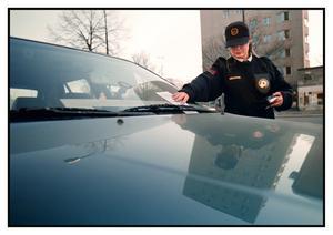 Gillade inte bot på bilen. (Bilen och kvinnan på bilden har inget med artikeln att göra) Foto: Scanpix.