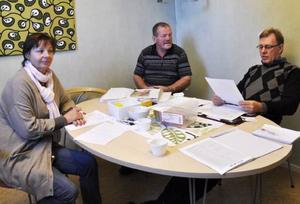 Anna Gillgren, Sture Reinemyr och Staffan Oscarsson träffas för att lösa Luciafrågan.