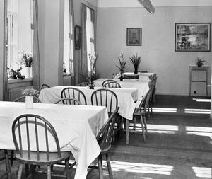 Fängelsets matsal i f.d direktörsvåningen. Fotodatum 16 juni 1953.