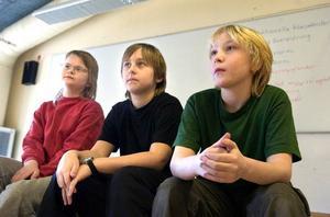 Charlotta Söderlund, Oskar Gyllner och Conrad Jonsson gillar inte förslaget om att Södras blivande sjuor ska delas mellan Hälsinggården och Britsarvet.