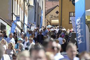 Folkliv i Almedalen under fjolårets politikervecka.