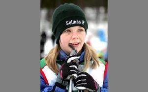 Madeleine Ekengren gillar att tävla.-- Skate-åkning är roligast. Då går det fort.Foto: BERIT DJUSE