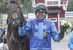 Hans Brunlöf nöjd efter segern med Pliggfaksen.