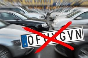 Transportstyrelsen avslog Borlängebon ansökan om att ha en fordonsskylt med texten
