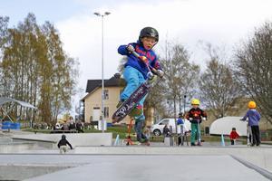Oscar Sahlin 6 år från Hudiksvall.